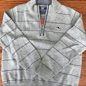 NWOT vineyard vines Blue 1/4 zip sweater 3T